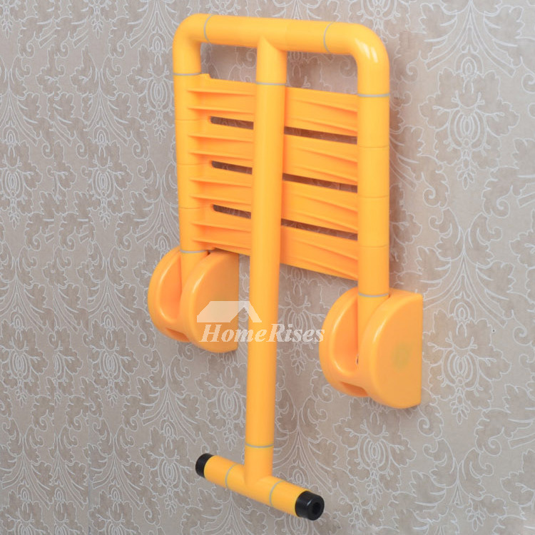 XKM ABS Plastic Wall Mounted Aluminum Folding Shower Seat