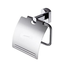 JM Simple Chrome Wall Mounted Brass Toilet Paper Holder