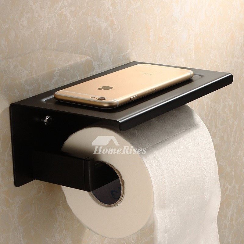 Back 304 Stainless Steel Wall Mounted Bathroom Toilet Paper Holder