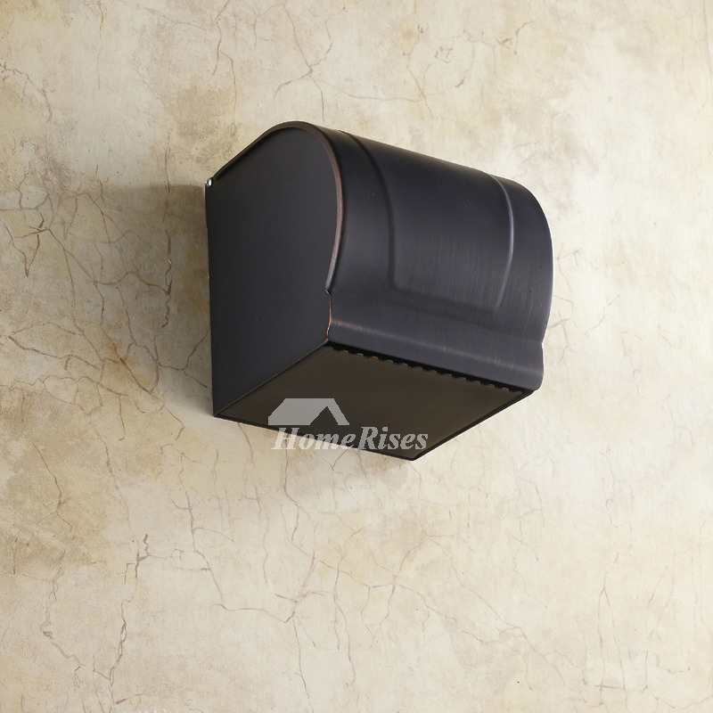 Black Brushed Oil Rubbed Bronze Wall Mounted Toilet Paper Holder