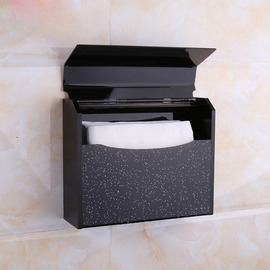 Simple Black | Silver Acrylic Wall Mounted Toilet Paper Holder