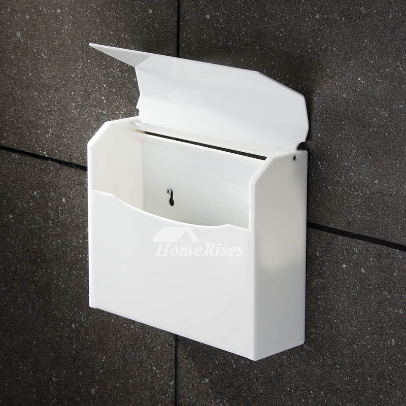 Simple Blue White Acrylic Wall Mounted Toilet Paper Holder