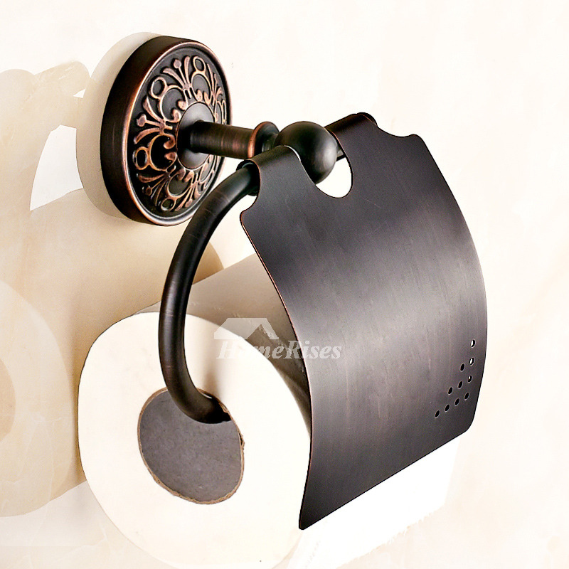 MZ Black Brushed Brass Wall Mounted Toilet Paper Holder