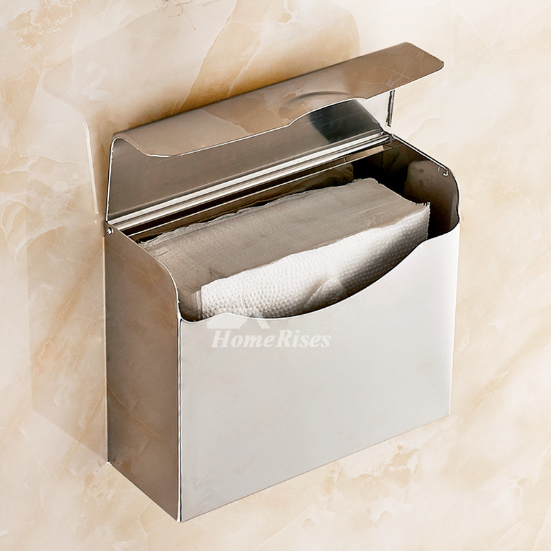 MZ Polished Wall Mounted 304 Stainless Steel Toilet Paper Holder