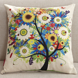 Designer Colorful Floral Square Couch Cheap Throw Pillows