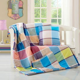 Shabby Chic Plaid Cotton Bed Couch Square Colorful Throw Pillows