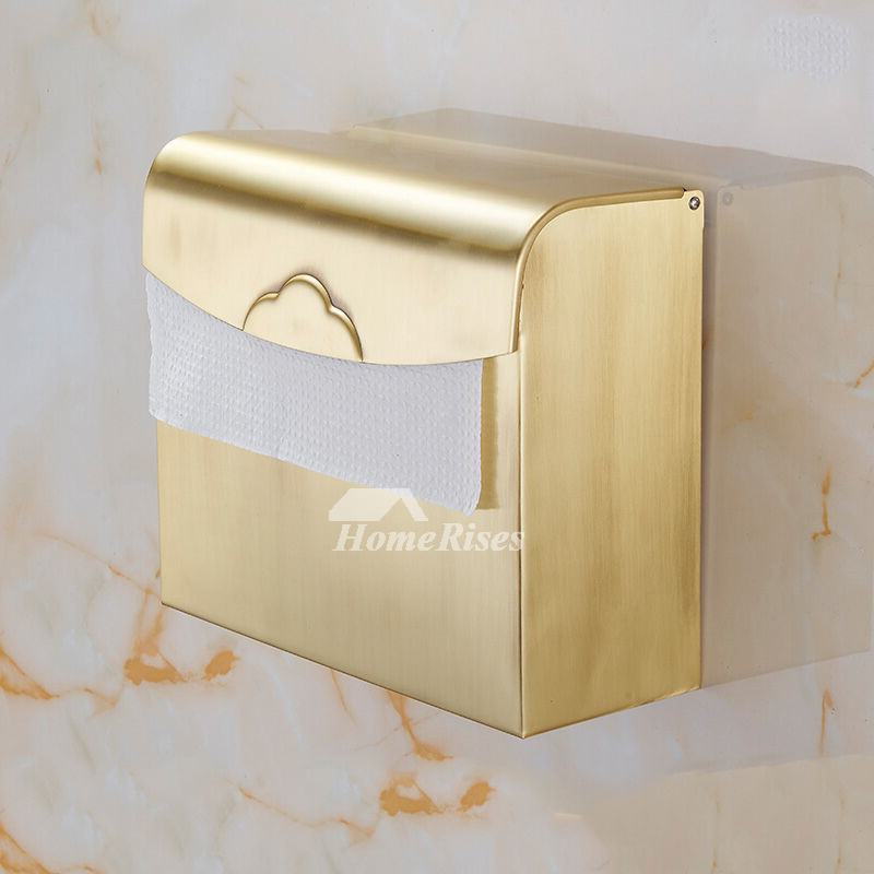 LTJ Fine Antique Polished Brass Wall Mounted Toilet Paper Holder