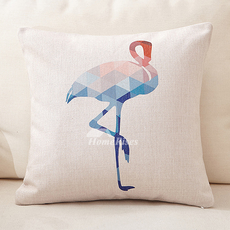 Crane Cream Couch Animal Square Decorative Throw Pillows