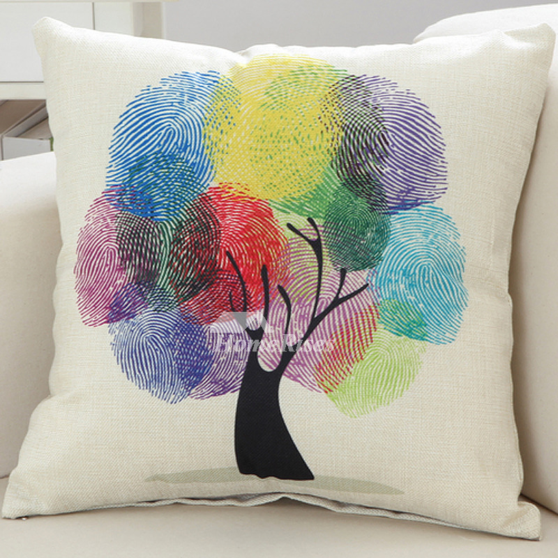 Colorful Tree Country Decorative Throw Pillows Beautiful Life Mesmerizing Country Throw Pillows Decorative