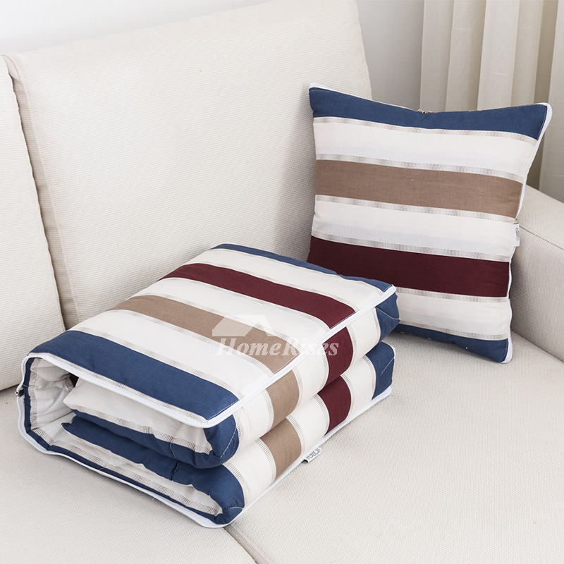 Country Blue And White Striped Best Throw Pillows