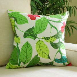 Country Tree Cotton Square Couch Green Throw Pillows