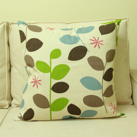 Country Green branch Cotton Couch Cheap Throw Pillows