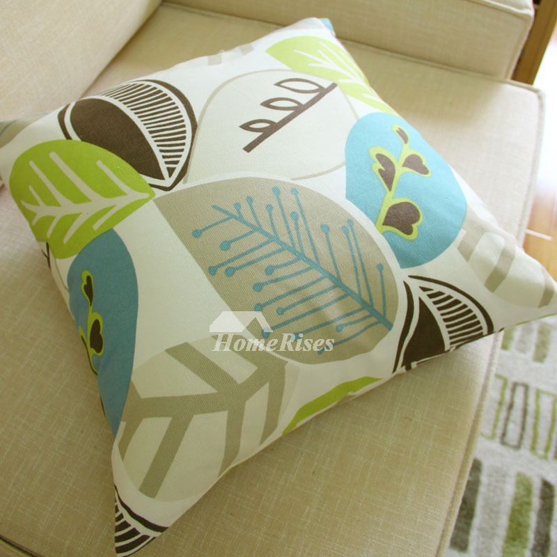 Country Cotton Square Cream Throw Pillows For Couch