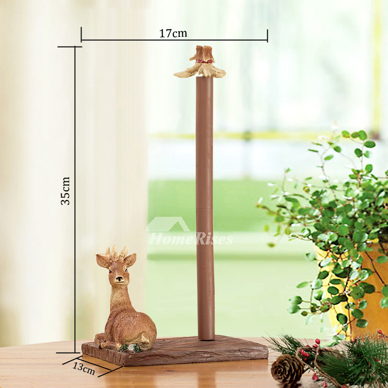 Unique Decorative Free Standing Deer Toilet Paper Holder
