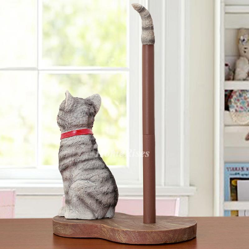 Unusual Creative Free Standing Cute Cat Paper Towel Holder