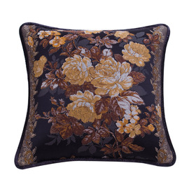 Vintage Plush Couch Floral Best Mysterious Black Throw Pillows