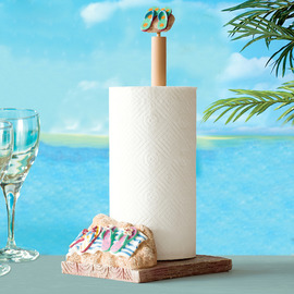 Funny Free Standing Nautical Beach No Drill Toilet Paper Holder