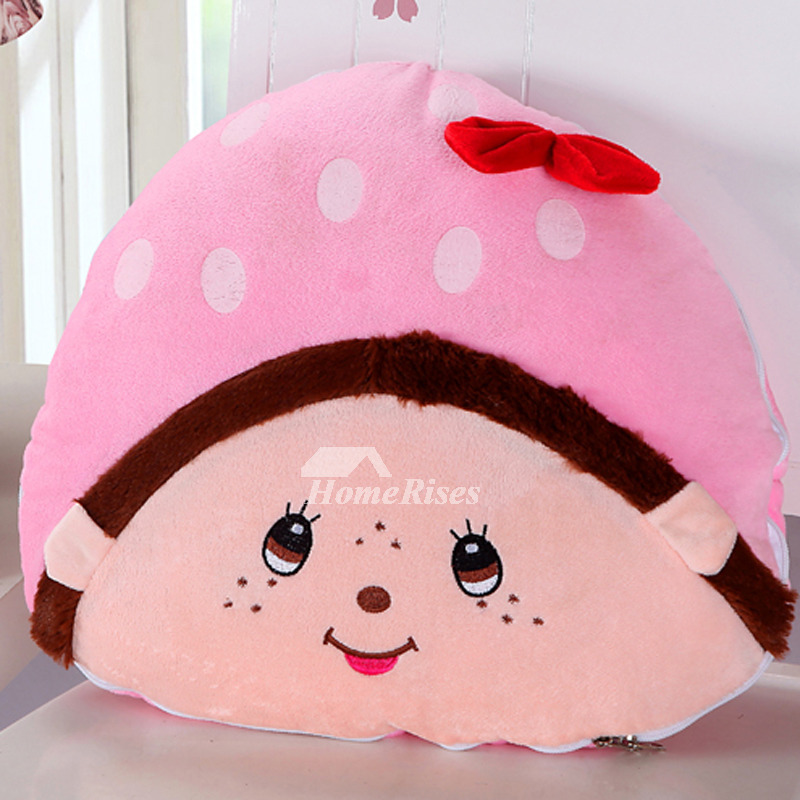 Cute Cartoon Couch Plush Pink Throw Pillows Little Bee