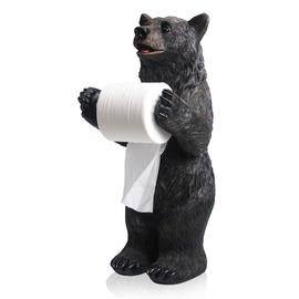 Funny Black Bear | Alligator Free Standing Toilet Paper Holder