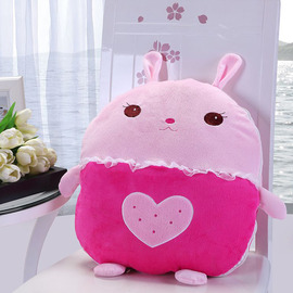 Cute Rabbit Plush Couch Anima Pink Throw Pillows
