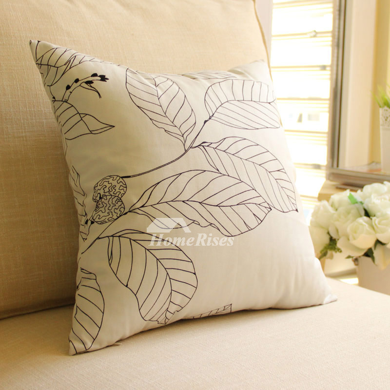 Country Cotton Tree Couch Polyester Fiber White Throw Pillows