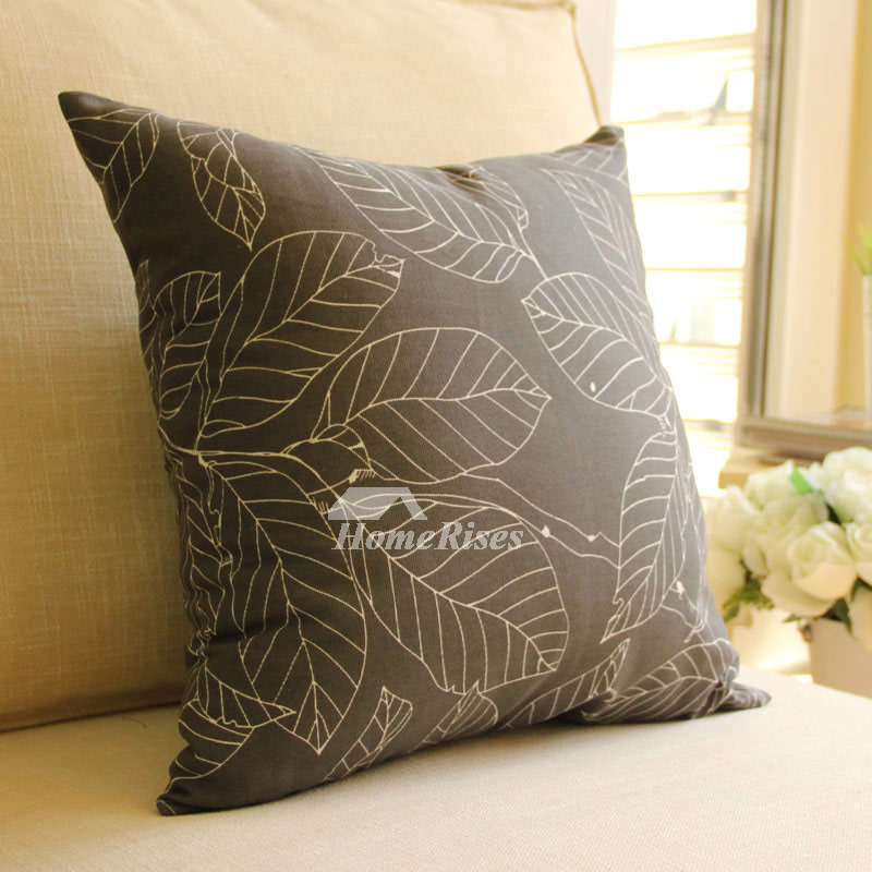 Country Tree Cotton Couch Polyester Fiber Black Throw Pillows
