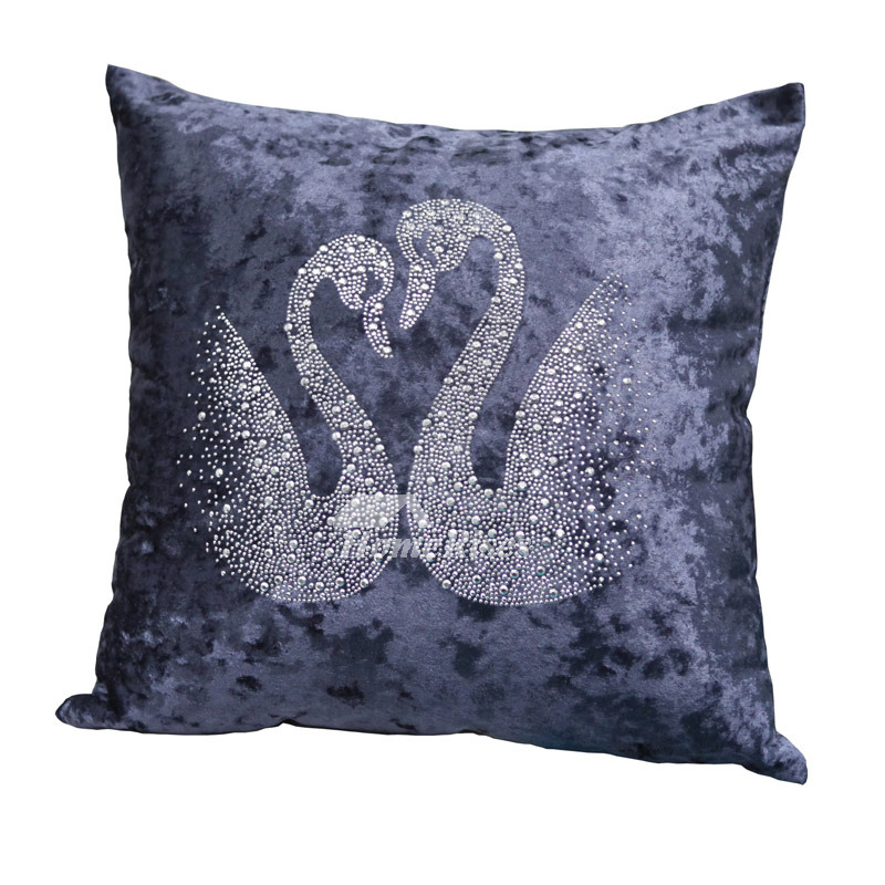Festive Swan Unique Animal Plush Couch Blue Throw Pillows