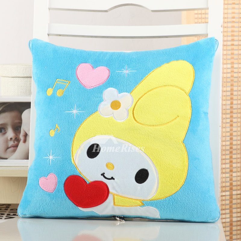 Multifunction Cute Cartoon Plush Couch Blue Throw Pillows