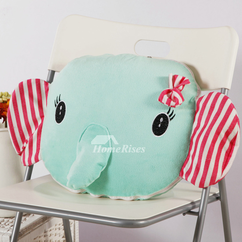 Elephant Cute Animal Plush Couch Aqua Decorative Throw Pillows