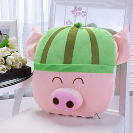 Watermelon Piglets Cute Pink And Green Couch Throw Pillows