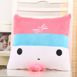 Cute Cartoon Pink And White Throw Pillows For Couch