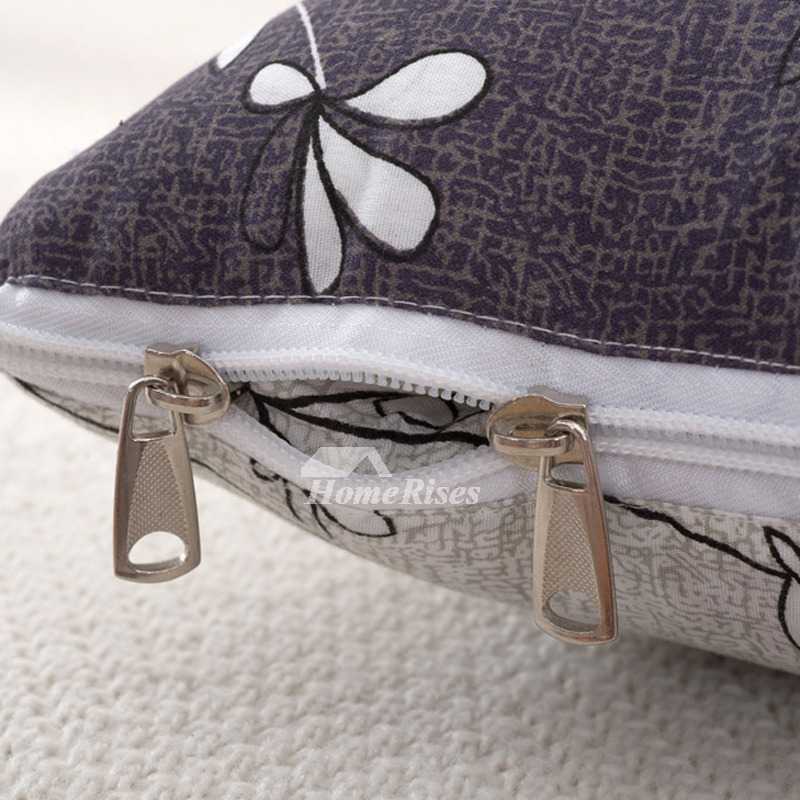 Country Floral Polyester Fiber Couch Gray Cheap Throw Pillows