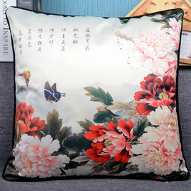 Country Floral Plush Colorful Throw Pillows For Couch