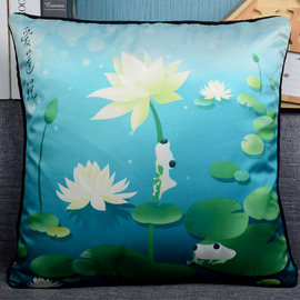 Country Floral PP Cotton Blue Teal Throw Pillows For Couch