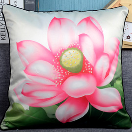 Country Floral Plush Couch Square Pink Throw Pillows
