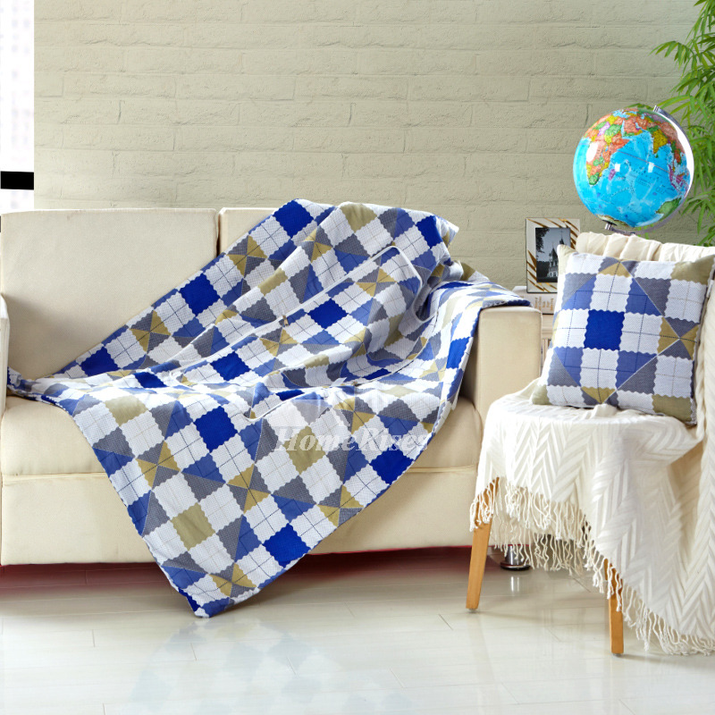 Excellent Modern Blue And White Plaid Plaid Throw Pillows For Couch Pillow Core Not Included Ibusinesslaw Wood Chair Design Ideas Ibusinesslaworg