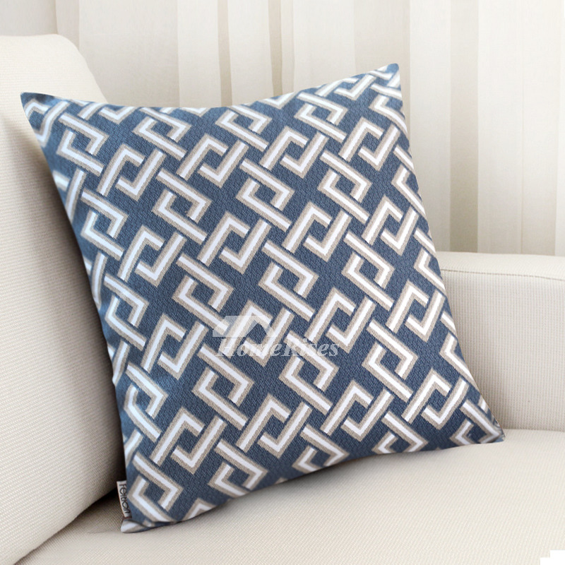 Tremendous Modern Blue Plaid Cotton Couch Square Cheap Throw Pillows Pillow Core Not Included Creativecarmelina Interior Chair Design Creativecarmelinacom