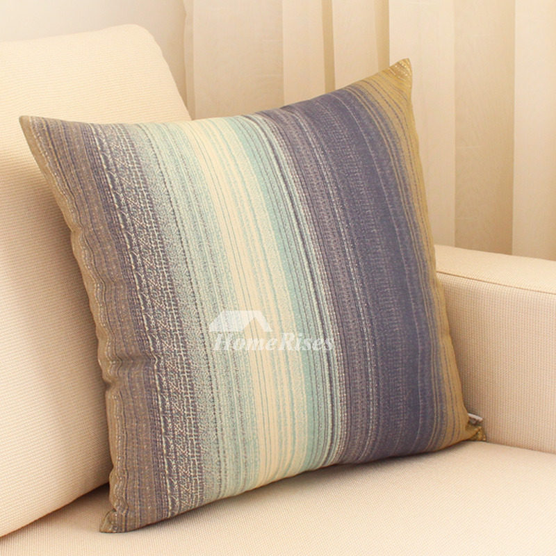 Outstanding Modern Colorful Striped Cotton Couch Decorative Throw Pillows Pillow Core Not Included Creativecarmelina Interior Chair Design Creativecarmelinacom