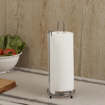 Modern Stainless Steel Free Standing Paper Towel Holder
