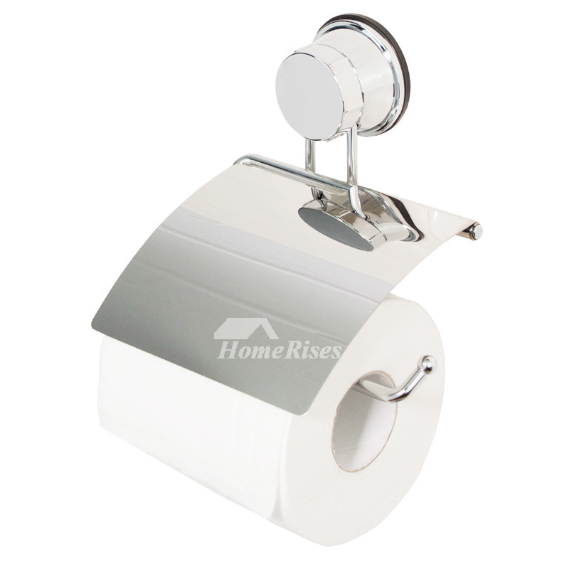 Cheap Chrome Suction Cup No Drill Toilet Paper Holder