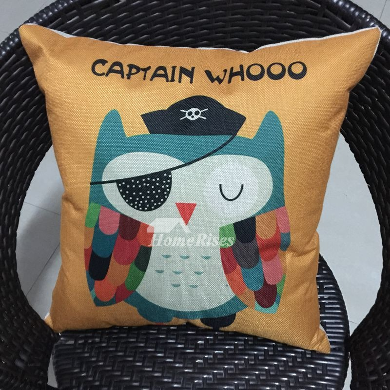 Owl cool kids yellow cartoon animal cheap throw pillows for Cheap kids pillows