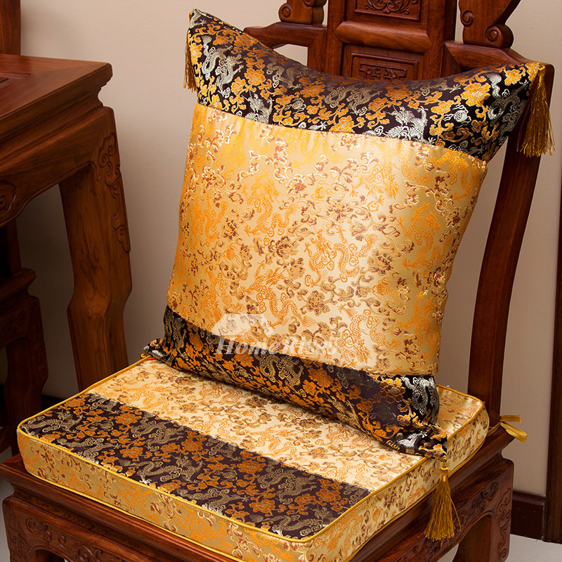Stupendous Luxury Vintage Gold Floral Polyester Fiber Couch Best Throw Pillows Pillow Core Not Included Ocoug Best Dining Table And Chair Ideas Images Ocougorg
