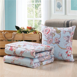 Country Blue Floral Memory Foam Throw Pillows For Couch