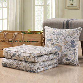 Country Floral Cotton Couch Memory Foam Gray Throw Pillows