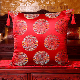Country Vintage Floral Red PP Cotton Best Throw Pillows For Couch