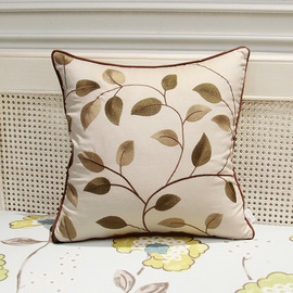 Country Cream And Green Tree Linen Couch Best Throw Pillows