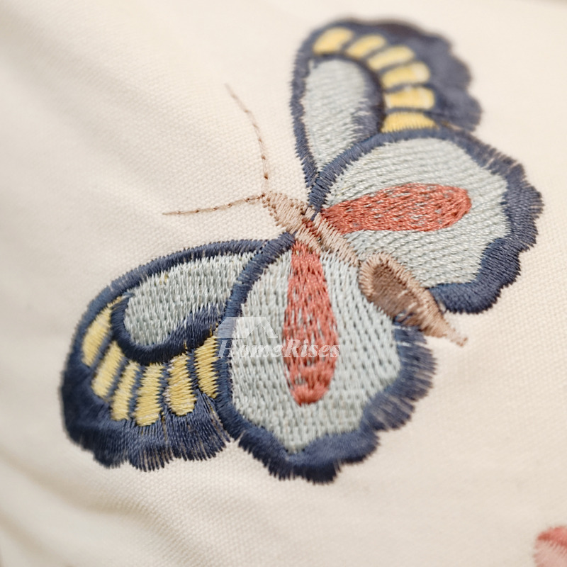 Country Butterfly Animal Floral Linen Best Throw Pillows