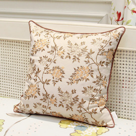 Country Floral Linen Couch Best Cream Throw Pillows