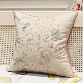 Country Pink And White Floral Tree Couch Throw Pillows