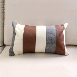 Modern Brown And Gray Cotton Couch 25cm*40cm Throw Pillows